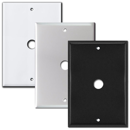 "6"" NuTone Wall Box Cover with Door Bell Hole - 5.25"" Screws"