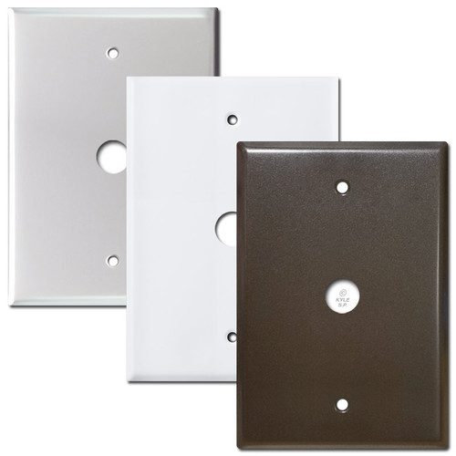"Door Speaker Wall Box Cover 6.4"" + Doorbell Hole 4.5"" Screws"