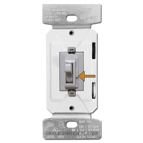 Gray Toggle Dimmer Switch LED CFL S/P & 3 Way