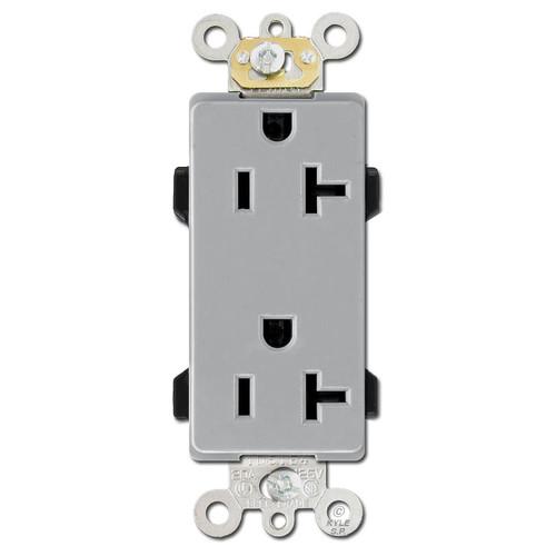 Leviton Decora Outlet 20A Commercial Grade - Gray