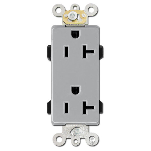 Leviton Decora Outlet 20A Commercial Grade - Gray