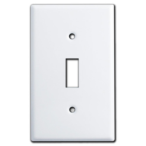 Single Toggle Wall Covers - White