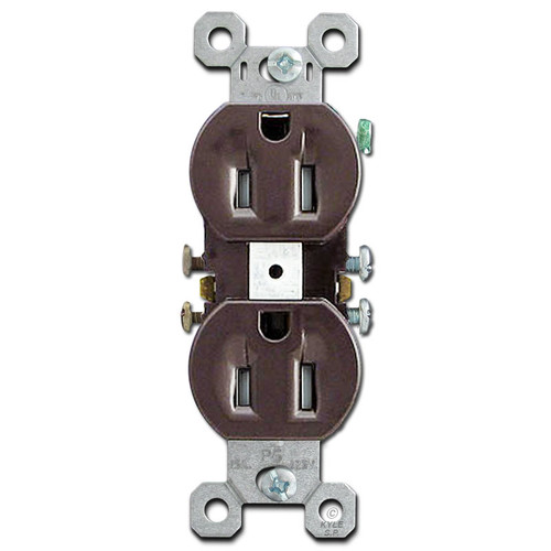 Brown 15A Tamper Resistant Duplex Receptacles