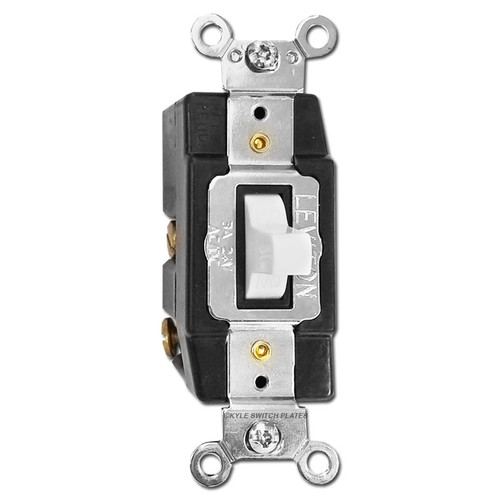 Low Voltage Momentary Toggle Light Switch 24V 3A - White