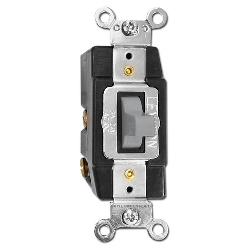 Momentary Toggle Low Voltage Switch 24V 3A - Gray