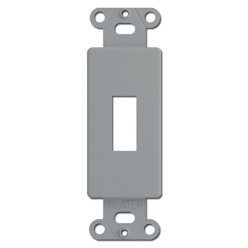 Gray Decor to Toggle Switchplate Insert