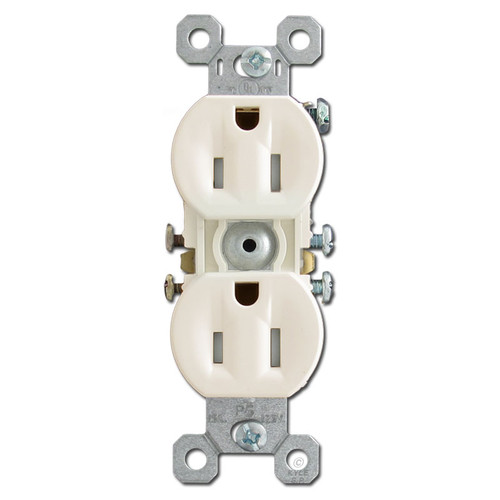 Safe Tamper Resistant Outlet in Light Almond