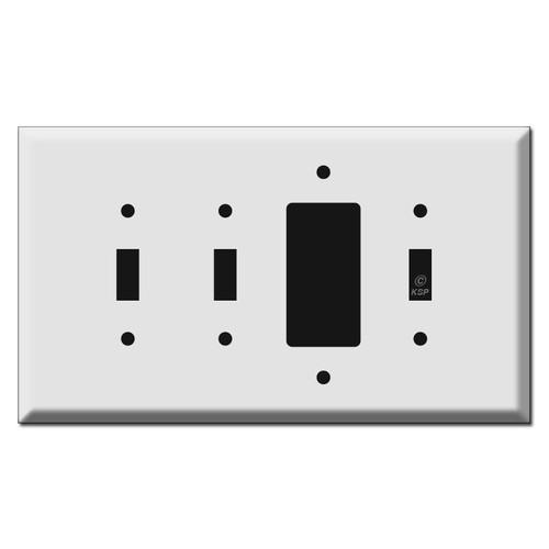 Oversized 2 Toggle 1 Decora 1 Toggle Electrical Wall Plates (SPDJSV