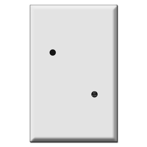 "Jumbo Blank Round Phone Box Cover - 2.375"" Diagonal Holes"