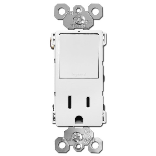 Combo 3-Way Rocker Switch +15A Socket - White
