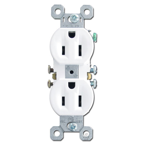 White Duplex Receptacle 15A