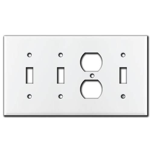 Toggle Receptacle Toggle Toggle Wall Plate - White