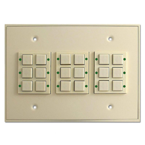 Touch Plate Classic LED 18 Button Low Voltage Switch - Ivory