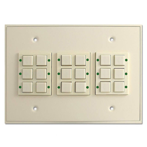 Touch Plate Classic 18 Button LED Low Voltage Switch - Light Almond