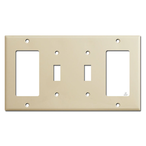 4-Gang Decora 2 Toggle Decora Electrical Outlet Cover - Ivory