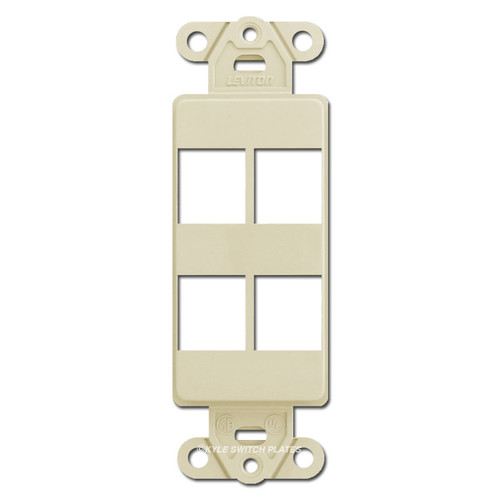 Modular Communication Jack 4 Port Frame Leviton - Ivory