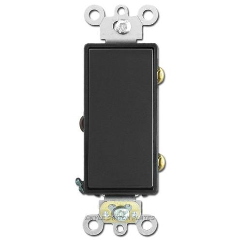 3-Way Decora Paddle Light Switch 20A Leviton - Black