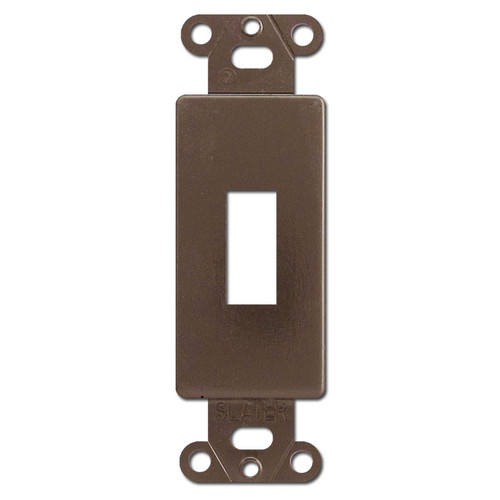 Brown Decorator to Toggle Converter Insert for Wall Switch Plates