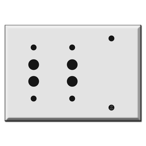 2 Push Button 1 Blank Wall Switch Plates