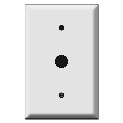 """5.5"""" Oversized Doorbell Cover Plates - 5/8"""" Hole 3.8"""" Screws"""