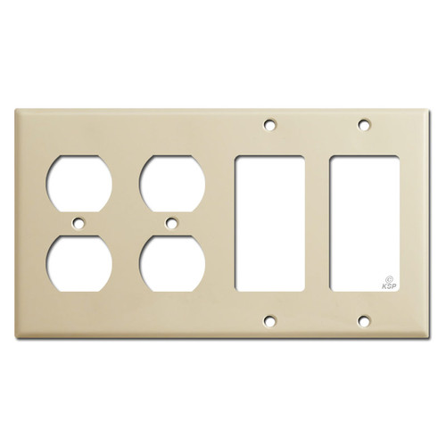 2 Decor 2 Duplex Outlet Cover Plate - Ivory