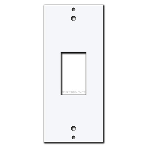 GE Low Voltage 1 Vertical New Switch Decor Plate Insert