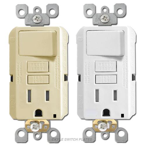 Switch + GFCI Outlet 15A Leviton Decora GFSW1