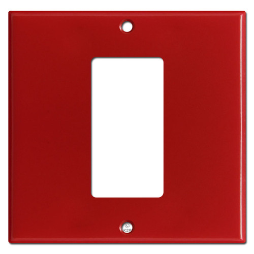 1 Decora Rocker Center 2-Gang Switch Wallplate - Black
