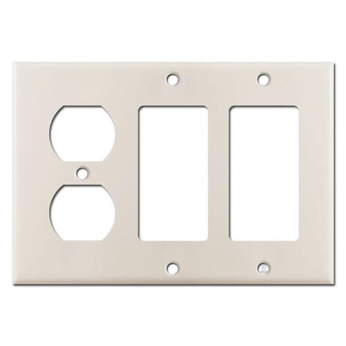 2 Decor Rocker 1 Duplex Outlet Cover - Light Almond