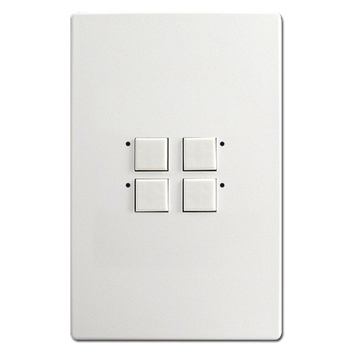 Touch Plate Mystique 4 LED Light Switch Stations - White
