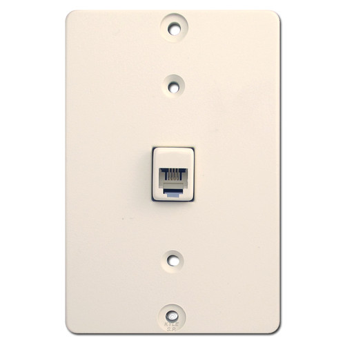 Almond Wall Mount Phone Jack