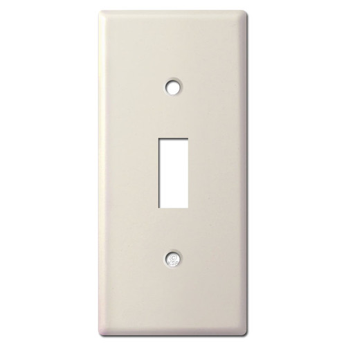 "2"" Wide Undersized Toggle Switch Plate - Light Almond"