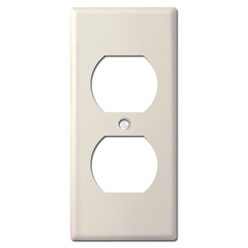 "Undersized Narrow 2"" Receptacle Cover - Light Almond"