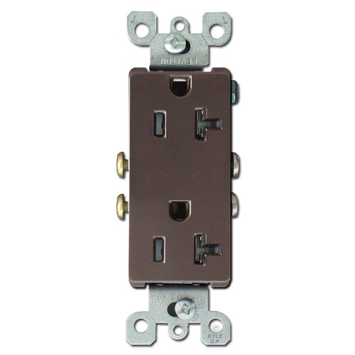 Decora Outlet Plugs 20A TR Leviton - Brown