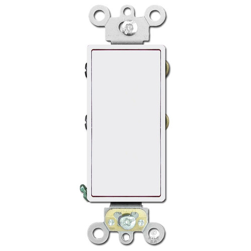20 Amp 4-Way 20A Rocker Switch Leviton Decora - White