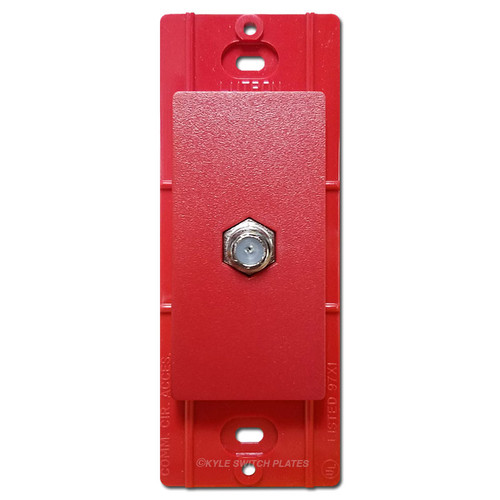 Satin Red Coax Cable TV Jack Decor Insert - Lutron Hot