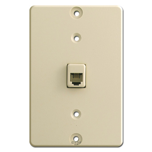 Ivory Wall Phone Jacks