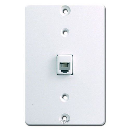 White Wall Telephone Jack