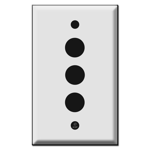 Low Voltage 2 Push Button Switch Plates