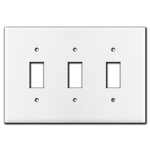 Somfy Triple Window Covering Control Switch Plate - White