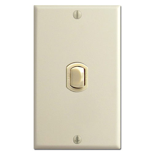 1 Vertical Low Voltage Despard Light Switch Cover Set - Ivory