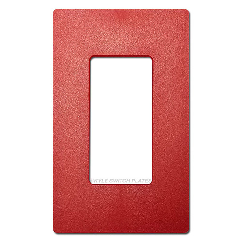 1 Decor Screwless Light Switch Cover Lutron - Satin Red