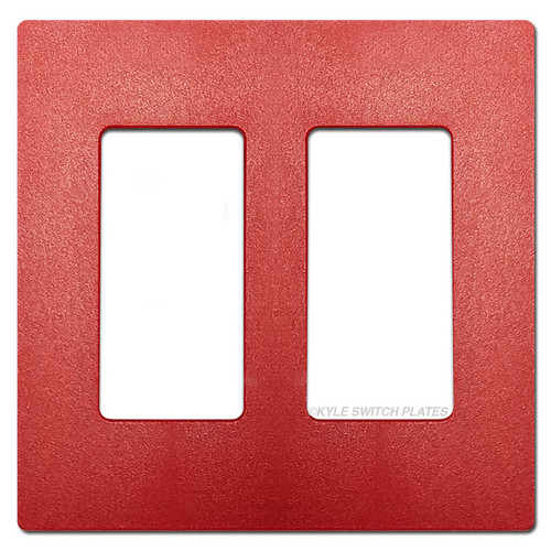 2 Decor Rocker GFI Screwless Switch Plate Lutron - Red Satin
