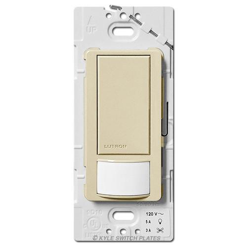 Vacancy Occupancy Sensor Switch Multi-Location Lutron - Ivory