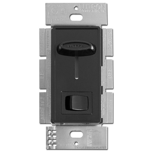 Lutron CFL LED Slide Dimmer On Off Switch - Black