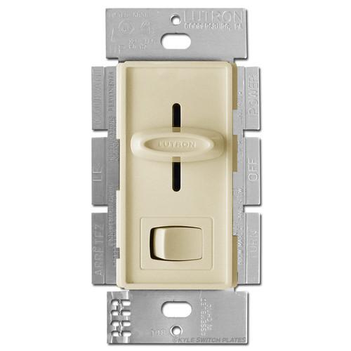 LED CFL Slide Dimmer On Off Switch Lutron - Ivory