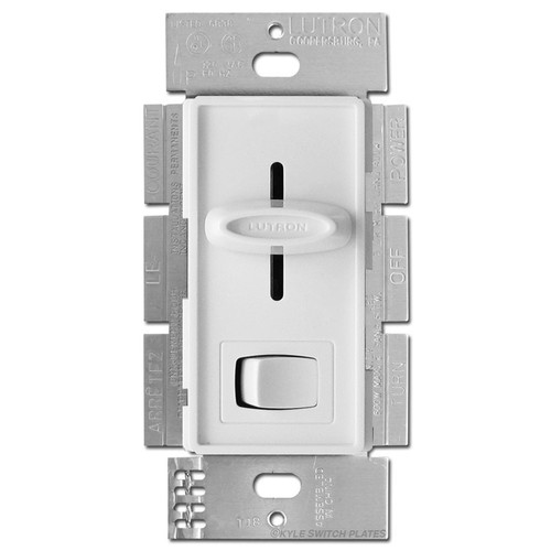 Lutron LED CFL Slide Dimmer On Off Switch - White