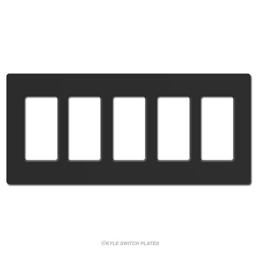 5 Decor Screwless Plastic Wallplate Lutron - Black