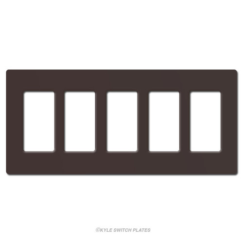 Screwless 5 Decor Plastic Wallplate Lutron - Brown
