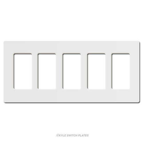 Screwless 5 Decor Plastic Light Switch Cover Lutron - White